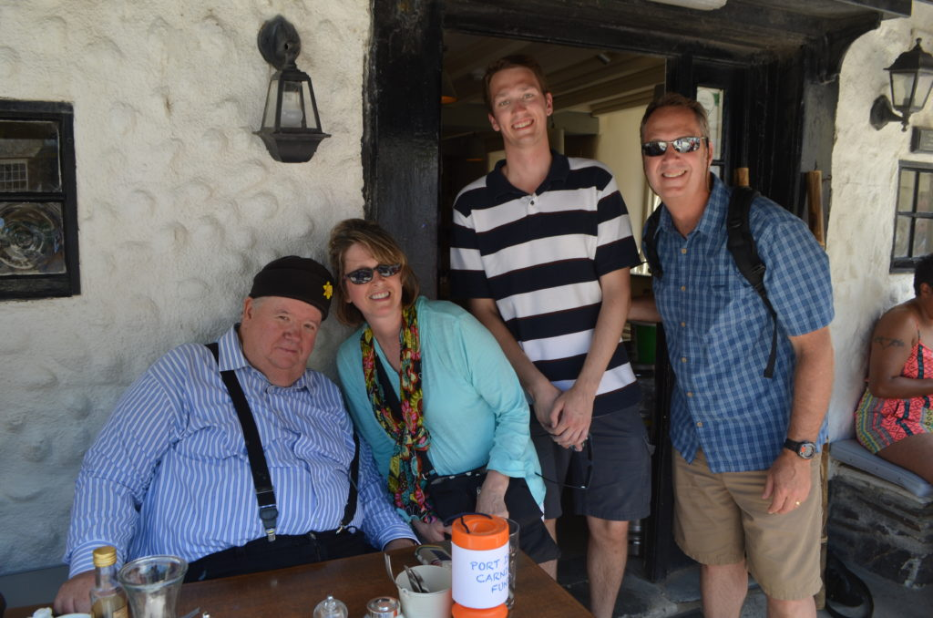 ...But he did find 'Bert Large!' Actually, William and his parents with actor Ian McNeice.