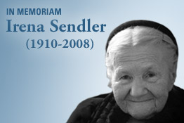 Irena Sendler.  Photo courtesy of www.ushmm.org.