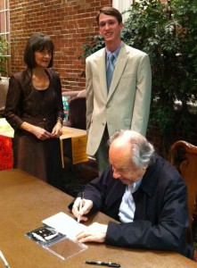 William with Norma Swain, Wednesday Club Executive Director and Concert Series Manager, and Maestro Paul Badura-Skoda signing his CD.