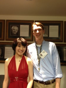William with Claire Huangci, 2013 Van Cliburn International Piano Competition semi-finalist and former SEPF participant.