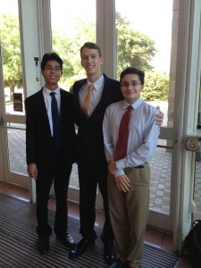 William with two other SEPF friends.