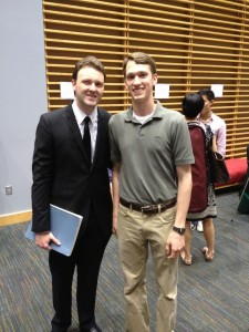 Eric Zuber - 2013 Van Cliburn competitor, after his amazing performance of Beethoven.