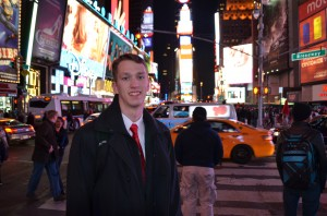 William in Times Square, NYC, at midnight!