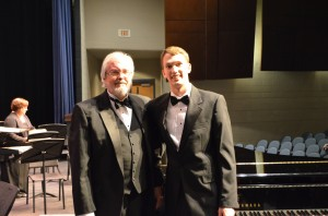 Williamsburg Choral Guild Artistic Director and Conductor Jay BeVille and William after the concert.